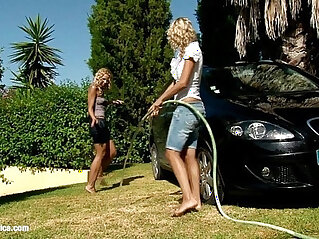 Automobile Amour by Sapphic Erotica lesbian scene with Lena and Al